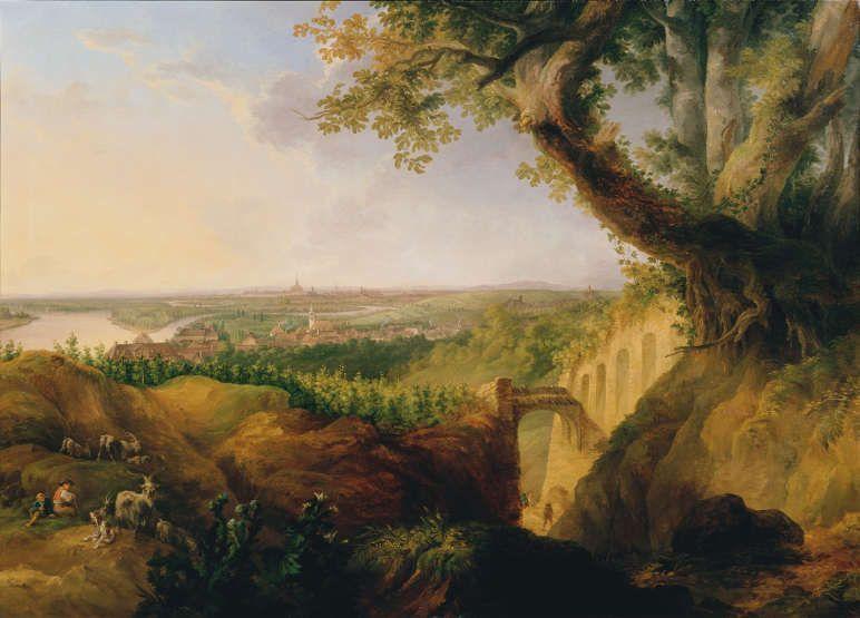 Josef Fischer, Ansicht der Haupt- und Residenzstadt Wien vom Standpunkte bey Nussdorf, 1822, Öl auf Leinwand, 169 x 236 cm © Belvedere, Wien.