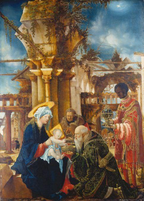 Albrecht Altdorfer (um 1480–1538), Die Anbetung der Könige, 1530/35, Lindenholz, 110 x 77,5 cm, Städel Museum, Frankfurt am Main, Foto: Städel Museum - U. Edelmann – ARTOTHEK.