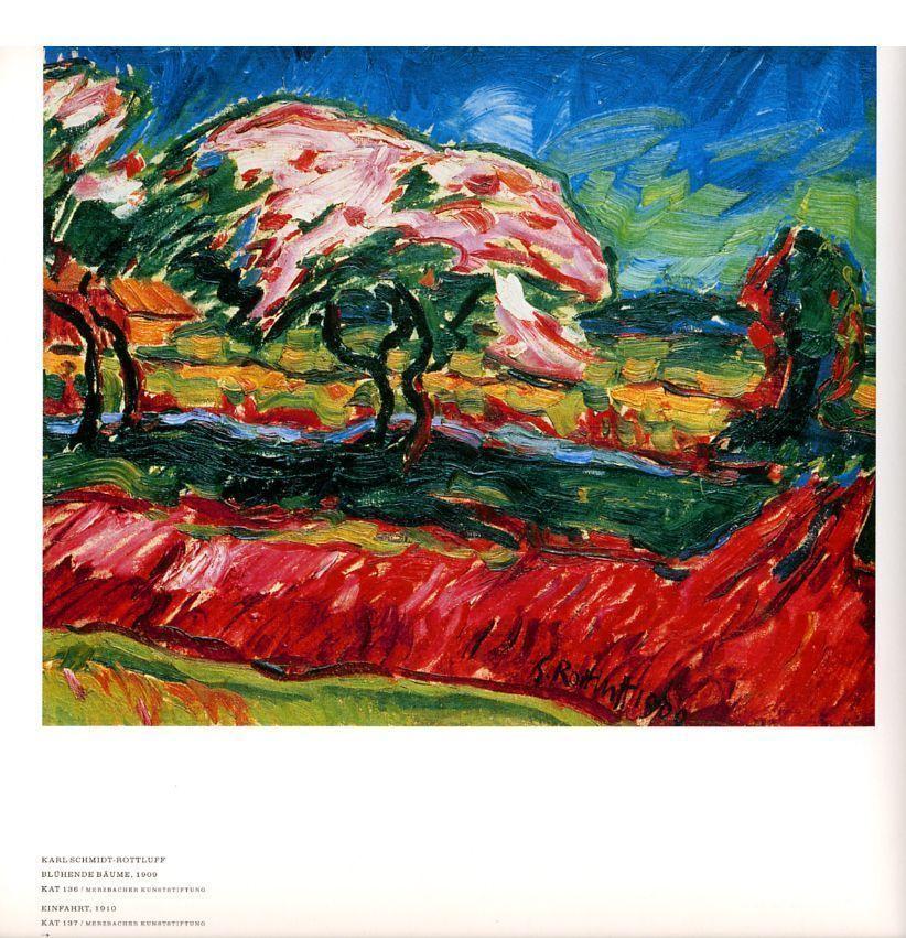Farbe in der Kunst, S. 36: Karl Schmidt-Rottluff: Blühende Bäume, 1909.