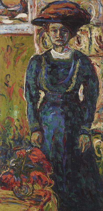 Ernst Ludwig Kirchner, Porträt Emmi Frisch, 1908 © Leopold Privatsammlung.