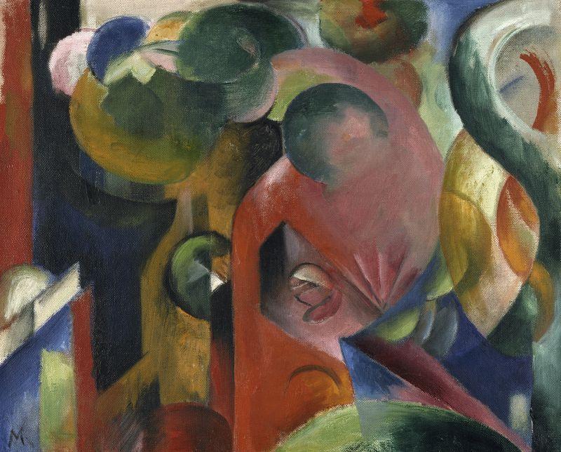 Franz Marc, Kleine Komposition III, 1913 © Leopold Museum Vienna.