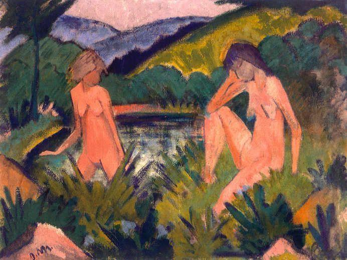 Otto Mueller, Mädchen am Wasser, um 1926 © Courtesy of Osthaus Museum Hagen & Institut für Kulturaustausch, Tübingen.
