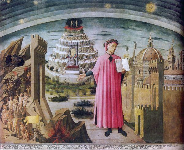 Domenico di Michelino, Die Allegorie der Göttlichen Komödie, 1465, Opera di Santa Maria del Fiore, Florenz © Opera di Santa Maria del Fiore - Archivio storico e fototeca, Firenze.