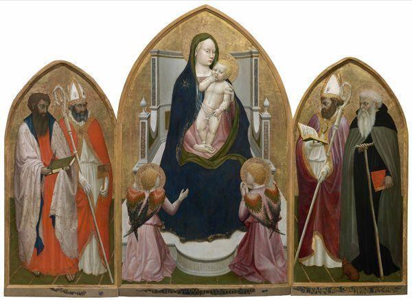 Masaccio (Tommaso di ser Giovanni di Mone Cassai), San Giovenale Tryptychon, 1422, Museo Masaccio d'Arte Sacra, Cascia di Reggello.