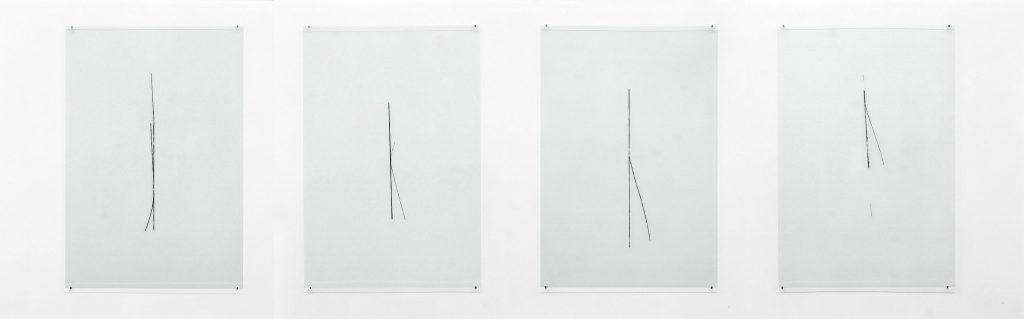 Florian Pumhösl, Aus der Serie: Diminution, 2011, 13 Teile, 48 Arbeiten, Acryllack hinter Glas, je 66,5 x 45 cm, Foto: Florian Pumhösl, Courtesy: Galerie Daniel Buchholz © Florian Pumhösl