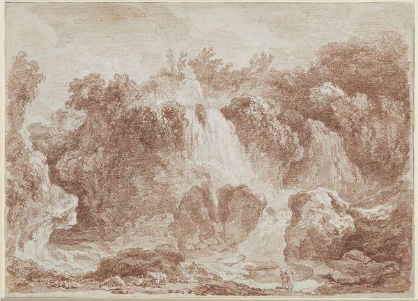 Jean-Honoré Fragonard, Die Wasserfälle von Tivoli, 1760, © Musée des Arts décoratifs Marseille, Foto: R. Chipault / B. Soligny.