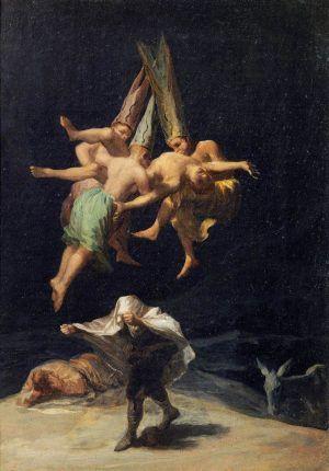 Francisco de Goya, Hexenflug, 1797-1798 (Museo Nacional del Prado, Madrid).
