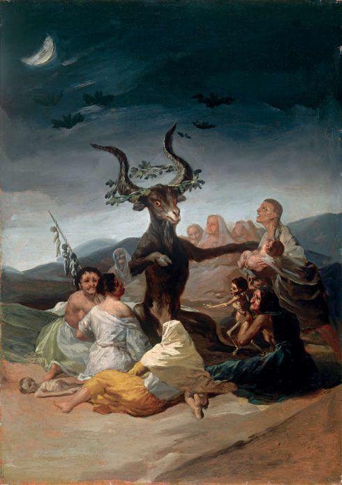 Francisco de Goya, Der Hexensabbat, um 1797/98 (Museo Lázaro Galdiano, Madrid).