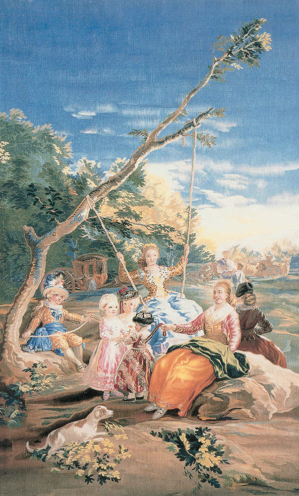 Francisco de Goya, Die Schaukel, um 1797-1801 (Patrimonio Nacional, Madrid).