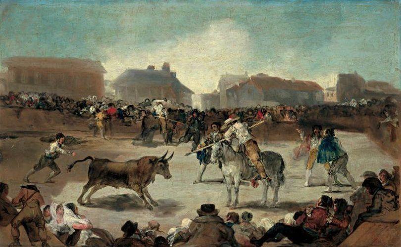 Francisco de Goya, Stierkampf, um 1808-1814 (Museo de la Real Academia de Bellas Artes de San Fernando, Madrid).