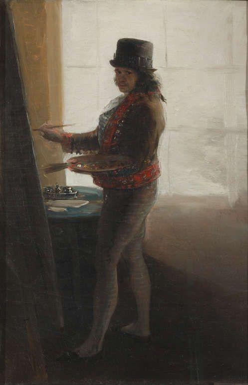 Francisco de Goya, Selbstporträt vor der Staffelei, um 1795 (Museo de la Real Academia de Bellas Artes de San Fernando, Madrid).