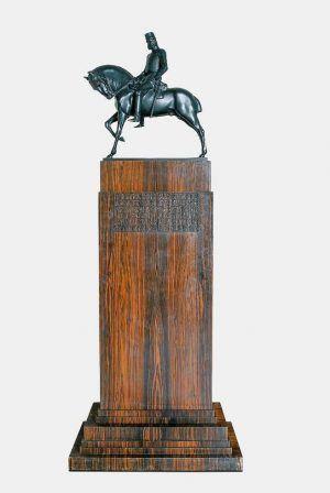 Franz Metzner, Modell für ein Reiterdenkmal Kaiser Franz Josephs I. 1908, Bronze, 63,5 × 60 × 22 cm, Belvedere, Wien, Foto: © Belvedere, Wien.