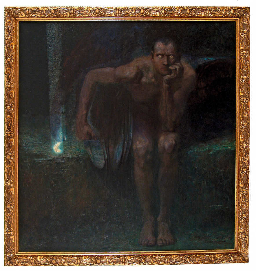 Franz von Stuck, Luzifer, 1890/91, Öl auf Leinwand, 161 x 152,5 cm (The National Gallery Sofia)
