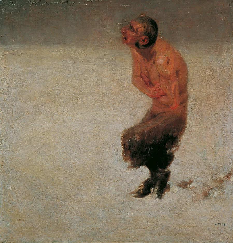Franz von Stuck, Verirrt, 1891, Öl auf Leinwand, 48 x 46 cm (Belvedere, Wien)