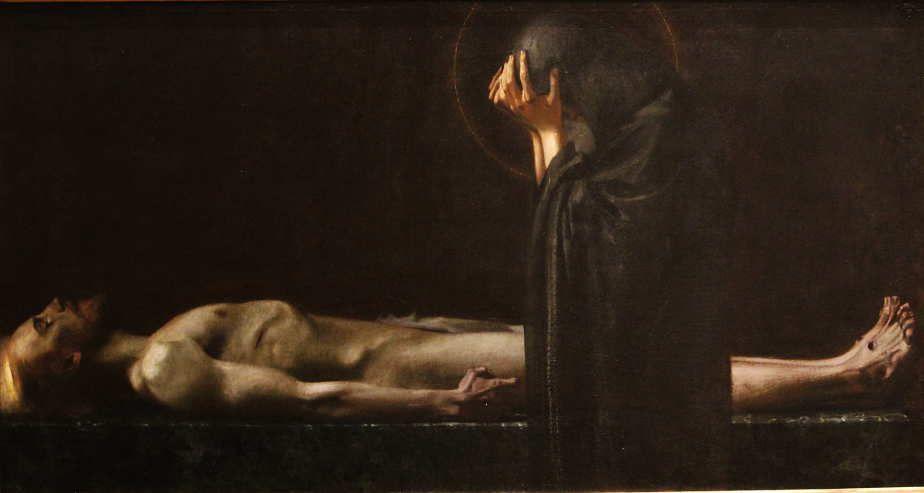 Franz von Stuck, Pietà, 1891, Öl auf Leinwand, 95,5 x 179 cm (Städel Museum, Frankfurt a.M.), Foto: Alexandra Matzner.