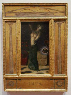 Franz von Stuck, Salome, um 1906, Öl auf Holz, 47 x 26 cm (Privatsammlung), Foto: Alexandra Matzner.