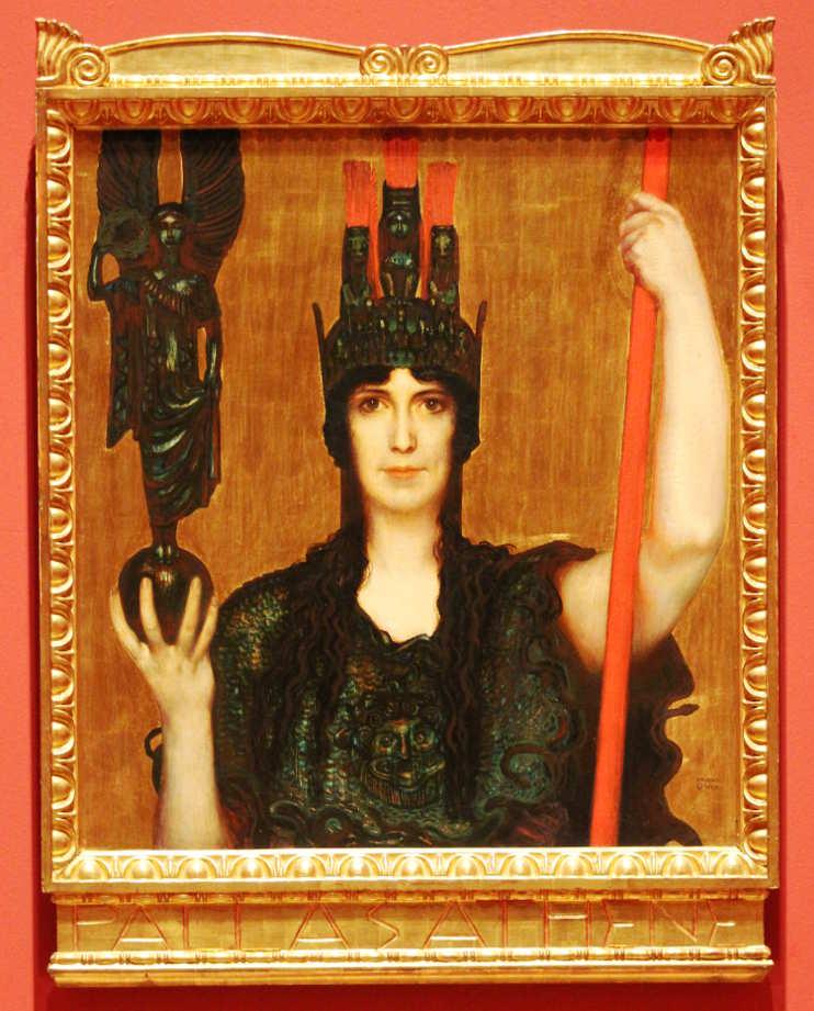 Franz von Stuck, Pallas Athene, 1898, Öl auf Holz, 77 x 69,5 cm (Museum Georg Schäfer, Schweinfurt), Foto: Alexandra Matzner.