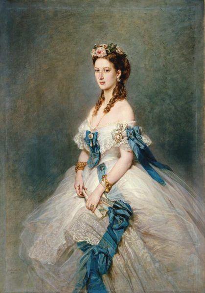 Franz Xaver Winterhalter, Alexandra, Prinzessin von Wales, 1864, Öl auf Leinwand, 162,6 x 114,1 cm (Royal Collection Trust/ © Her Majesty Queen Elizabeth II 2016)