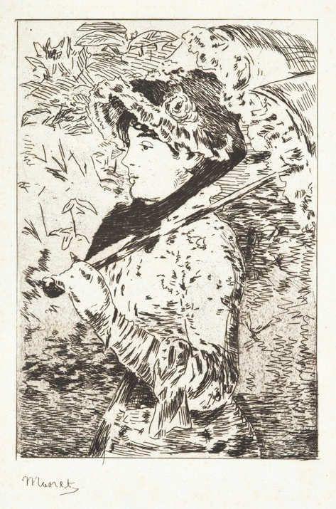 Édouard Manet, Jeanne (Le printemps) / Jeanne (Der Frühling), 1882, Radierung auf Bütten (Coninx Sammlung, Zürich)
