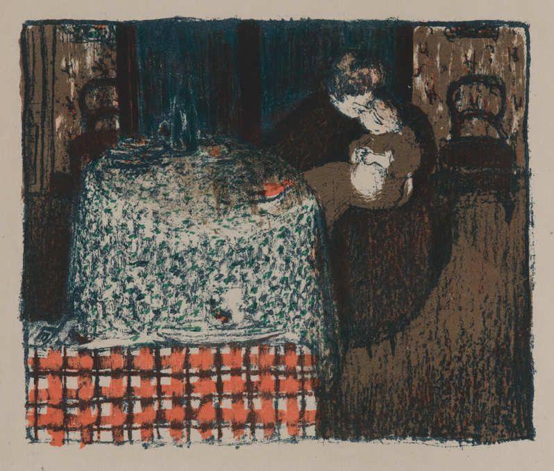Édouard Vuillard, Maternité/Mutterschaft, 1896, Lithographie auf Japan-Bütten (Sammlung Coninx, Zürich)