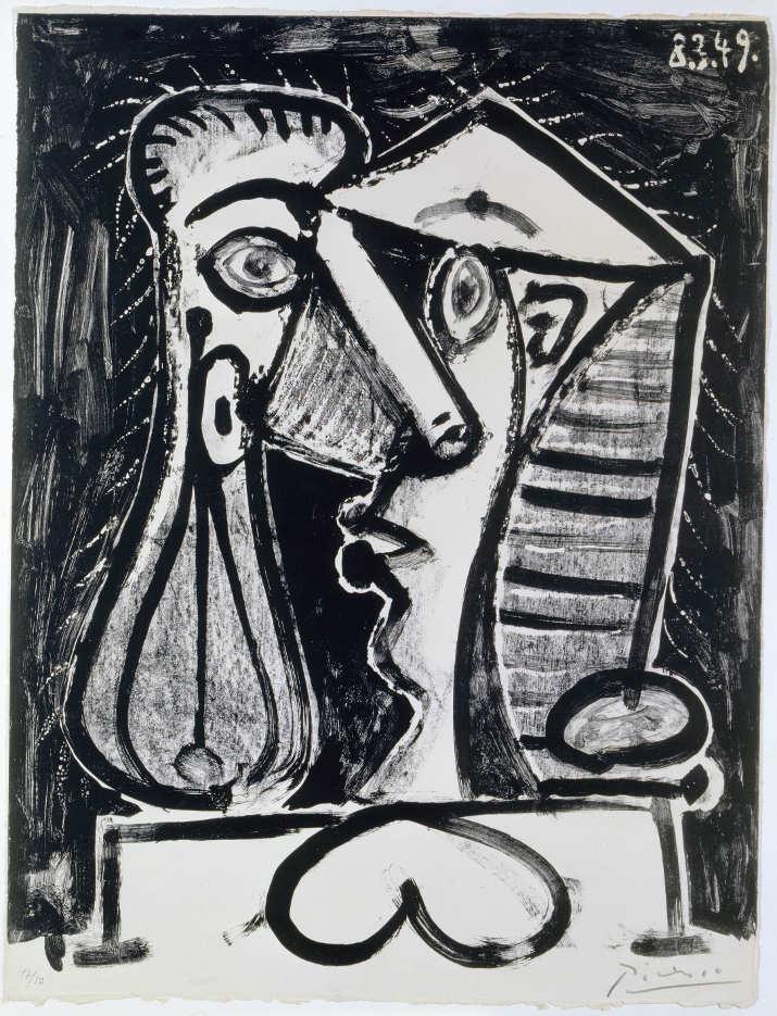 Pablo Picasso, Figure composée II/ Figürliche Komposition II, 1949, Lithografie auf Velin d'Arche (Sammlung Coninx, Zürich)