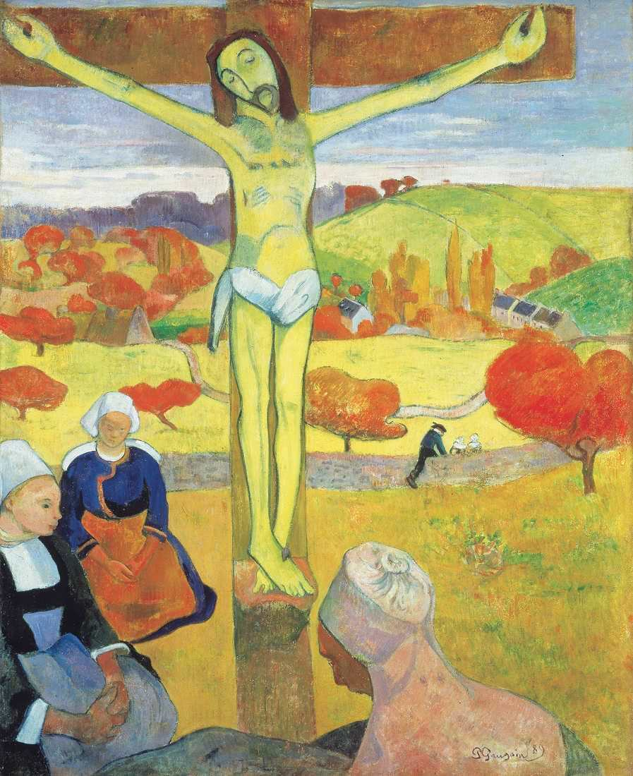 Paul Gauguin, Der gelbe Christus, 1889, Öl auf Leinwand (Albright-Knox Art Gallery, Buffalo)