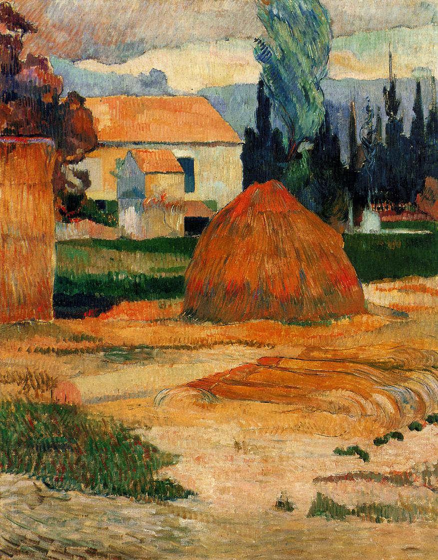 Paul Gauguin, Bauernhaus in Arles, ca. 28. Oktober 1888, Öl auf Leinwand, 91 x 72 cm (Indianapolis Museum of Art)