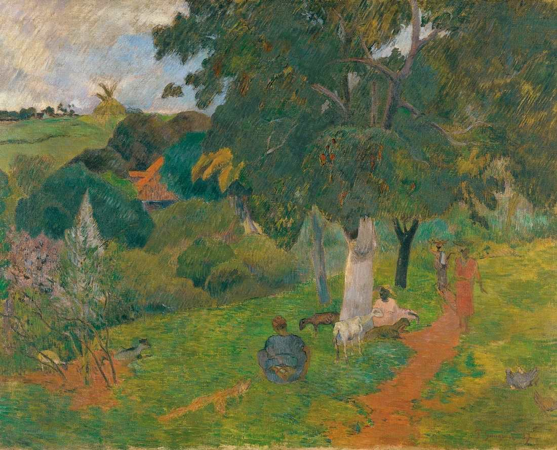 Paul Gauguin, Kommen und Gehen, Martinique, Sommer 1887, Öl auf Leinwand (Sammlung Carmen Thyssen-Bornemisza, Madrid)