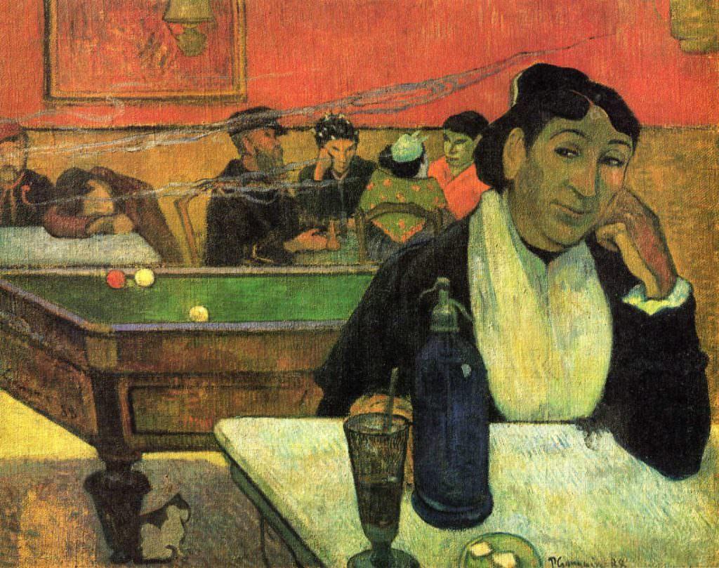 Paul Gauguin, Un Café de nuit [Nachtcafé], 4.–12. November 1888, Öl auf Jute, 72 x 92 cm (Pushkin Museum, Moskau)