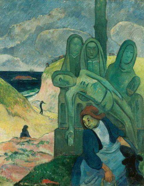 Paul Gauguin, Grüner Christus (Der Bretonische Kalvarienberg), 1889, 92 x 73cm (Musees Royaux des Beaux-Arts de Belgique)