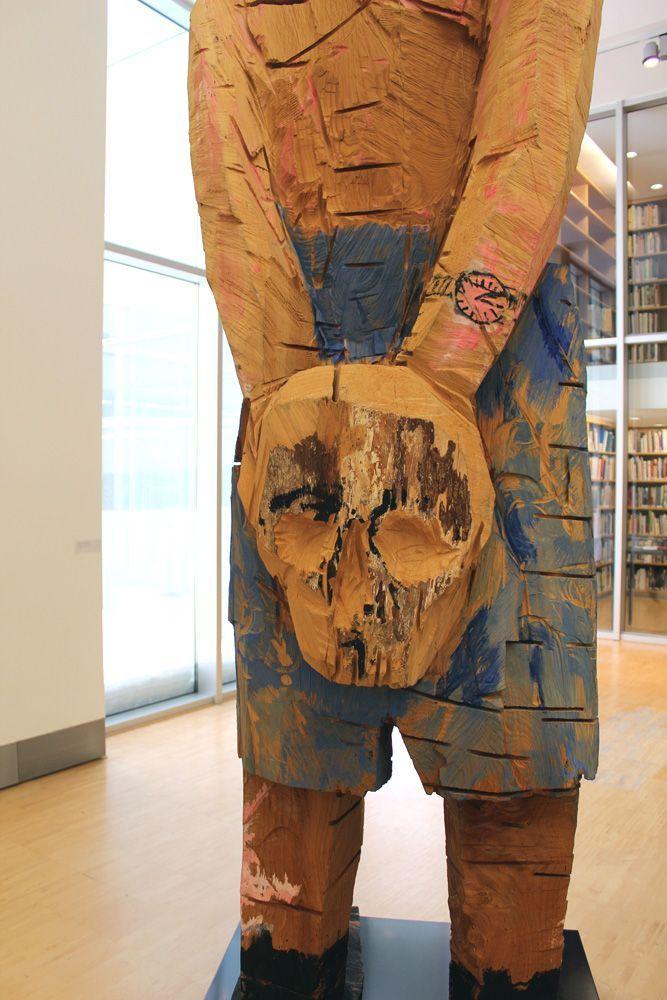Georg Baselitz, Meine neue Mütze, Totenschädel, 2003 (Essl Museum), Foto: Alexandra Matzner.