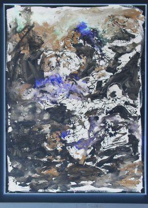 Georg Baselitz, Schon wieder eine schlechte Note - als NEGATIV, 2012 (Essl Museum), Foto: Alexandra Matzner.