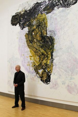 Georg Baselitz 2013 im Essl Museum, Foto: Alexandra Matzner.