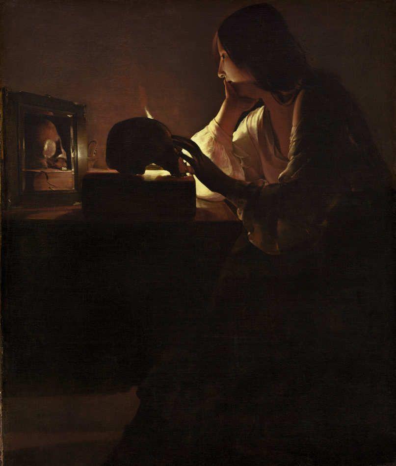 Georges de La Tour, Die reumütige Maria Magdalena, Öl auf Leinwand, 113 x 92.7 cm (National Gallery of Art, Washington. Alisa Mellon Bruce Fund, Washington D. C.)