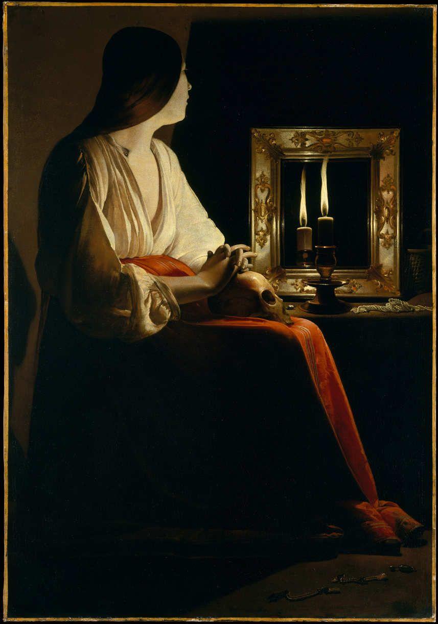 Georges de La Tour, Die reumütige Maria Magdalena, Öl auf Leinwand, 133,4 x 102,2 cm (The Metropolitan Museum of Art, New York, Inv.-Nr. 1978.517)