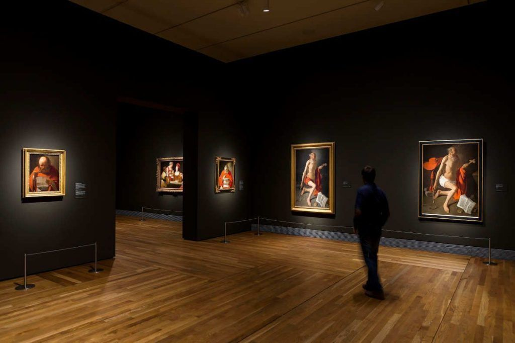 Ausstellungsansicht mit Georges de La Tour © Museo Nacional del Prado, 2016.
