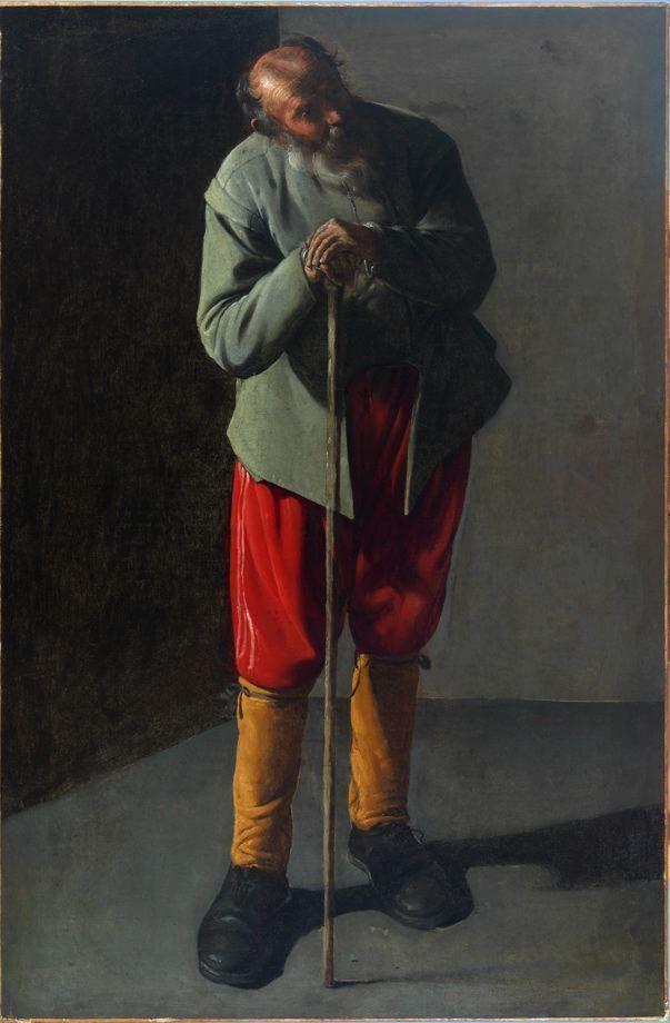 Georges de La Tour, Alter Mann, Öl auf Leinwand, 91 x 60,3 cm (Fine Arts Museum of San Francisco, San Francisco, Inv.-Nr. 75.2.9)