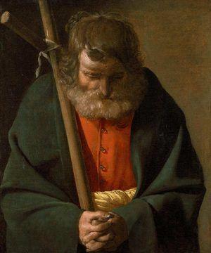 Georges de La Tour, Hl. Philippus, Öl auf Leinwand, 63.5 x 53.3 cm (Norfolk (Virginia), Chrysler Museum of Art, Gift of Walter P. Chrysler, Jr., Inv.-Nr. 77.431)