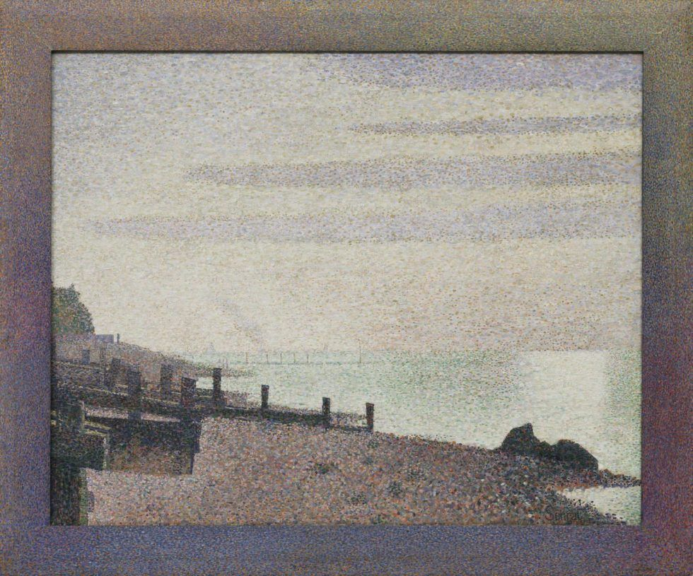 Georges Seurat, Abend, Honfleur, 1886, Öl auf Leinwand, 78.3 x 94 cm (The Museum of Modern Art, New York, Gift of Mrs. David M. Levy, Inv.-Nr. 266.1957)