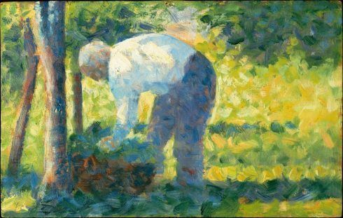 Georges Seurat, Der Gärtner, 1882/83, Öl auf Holz, 15.9 x 24.8 cm (Metropolitan Museum of Art, New York, Bequest of Miss Adelaide Milton de Groot, 1967, Inv.-Nr. 67.187.102)