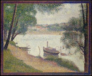 Georges Seurat, Graues Wetter, Grande Jatte, 1886–1888, Öl auf Leinwand, 70.5 x 86.4 cm (Metropolitan Museum of Art, New York, The Walter H. and Leonore Annenberg Collection, Gift of Walter H. and Leonore Annenberg, 2002, Bequest of Walter H. Annenberg, 2002, Inv.-Nr. 2002.62.3)