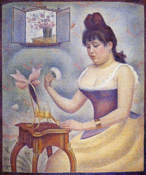 Georges Seurat, Jeune femme se poudrant (Junge Frau bei der Toilette), 1890, Öl auf Leinwand, 95,5 x 79,5 cm (The Courtauld Institute Galleries, London)