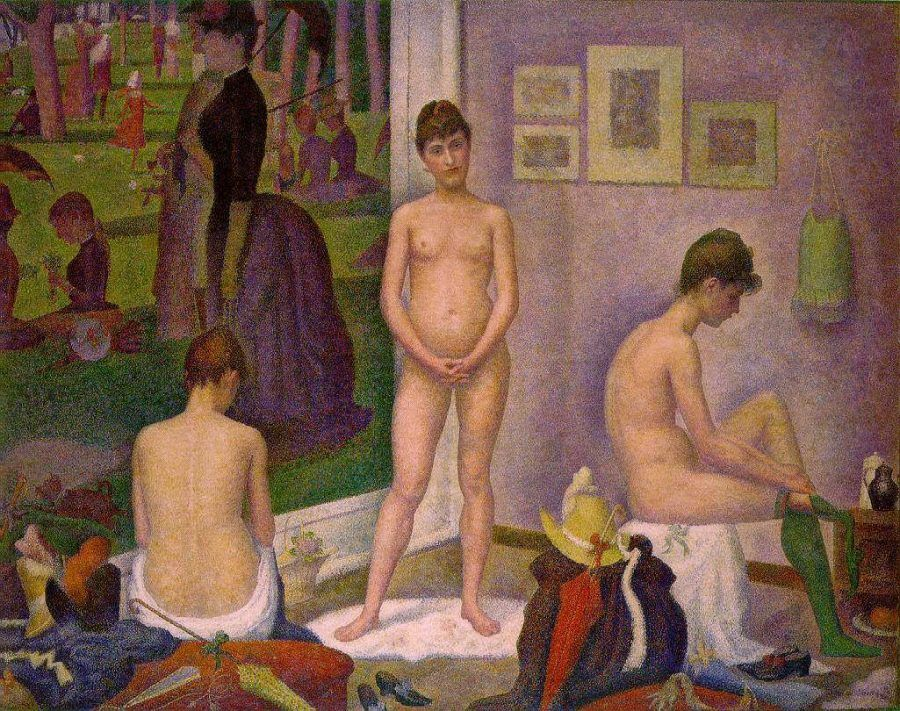 Georges Seurat, Les Poseuses (Die Modelle), 1888 (Barnes Foundation, Philadelphia)