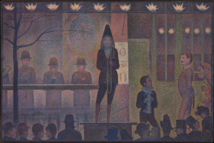 Georges Seurat, La Parade (Die Parade), 1887/88, Öl auf Leinwand, 99,7 x 149,9 cm (Metropolitan Museum of Art, New York, Bequest of Stephen C. Clark, 1960, Inv.-Nr. 61.101.17)