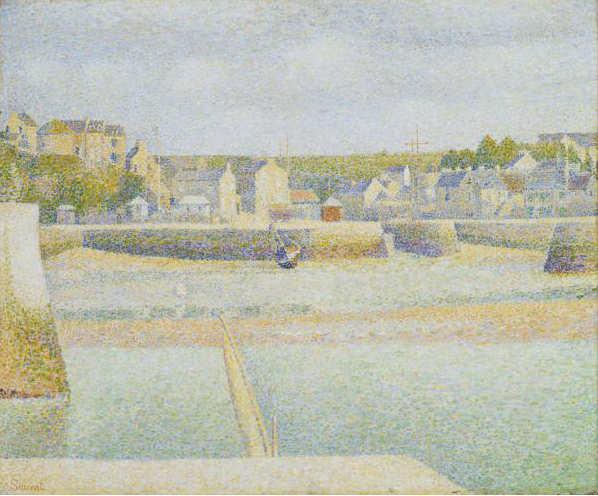 Georges Seurat, Der äußere Hafen von Port-en-Bessin (bei Ebbe), 1888, Öl auf Leinwand, 53,5 x 65,7 cm (The St. Louis City Art Museum, St. Louis, Missouri)