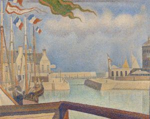 Georges Seurat, Sonntag in Port-en-Bessin, 1888 (Kröller-Müller Museum, Otterlo)