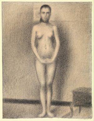 Georges Seurat, Studie für Les Poseuses, 1886, Conté Kreide auf Papier, 29.7 x 22.5 cm (Metropolitan Museum of Art, New York, Robert Lehman Collection, 1975, Inv.-Nr. 1975.1.704)