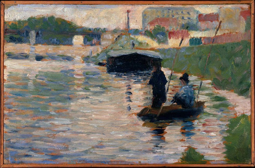 Georges Seurat, Ansicht der Seine, 1882/83, Öl auf Holz, 15.9 x 24.8 cm (Metropolitan Museum of Art, New York, Bequest of Mabel Choate, in memory of her father, Joseph Hodges Choate, 1958, Inv.-Nr. 59.16.5)