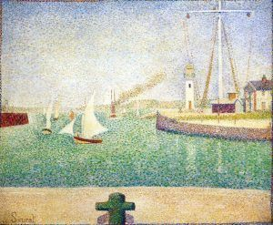 Georges Seurat, Le port d'Honfleur (Hafen von Honfleur), 1886, Öl auf Leinwand, 79,5 x 63 cm (Kröller-Müller Museum, Otterlo)