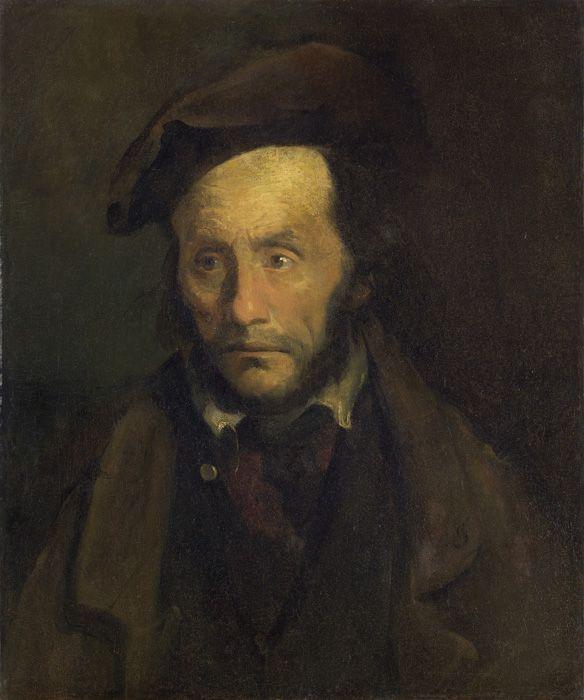 Thédore Géricault, Le monomane du vol d'enfants, 1822–1823, Öl auf Leinwand, 64,8 x 54 cm Michele and Donald D'Amour Museum of Fine Arts, Springfield, Massachusetts, The James Phillip Gray Collection.